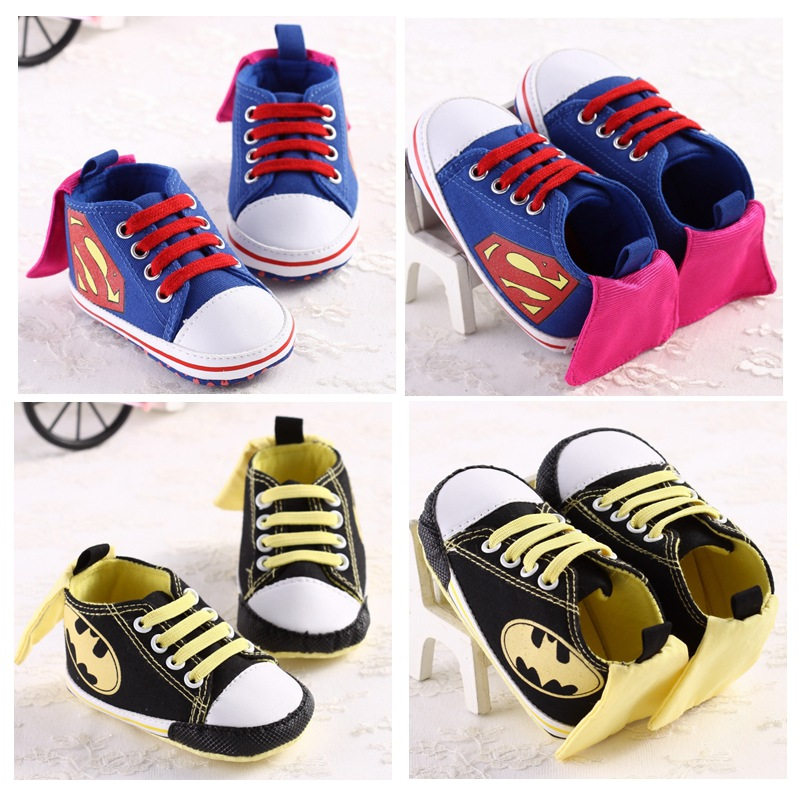 Fashion Branded Superman Baby Shoes Infant Boys Sneakers Batman Kids Chaussures Boy First Walker Boots Bebe Sapatos Girl Booties(China (Mainland))