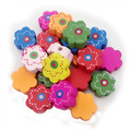 15 13mm Flower Shape Wood Wooden Spacer Beads Fine Quality beads Fit Children DIY Jewelry Mixed