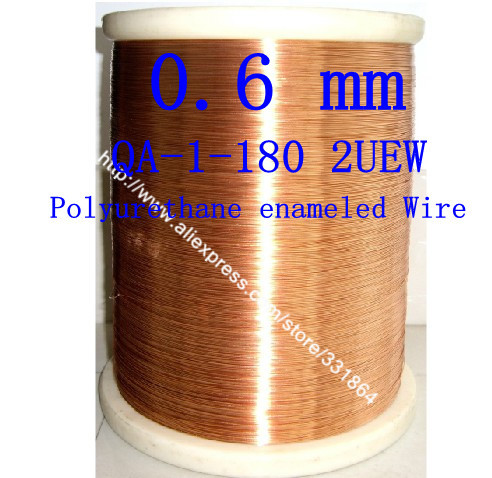 Copper Wire 0.6mm *100m / pcs QA-1-130 2UEW Polyurethane enameled Wire free shipping China Post Air Mail(China (Mainland))