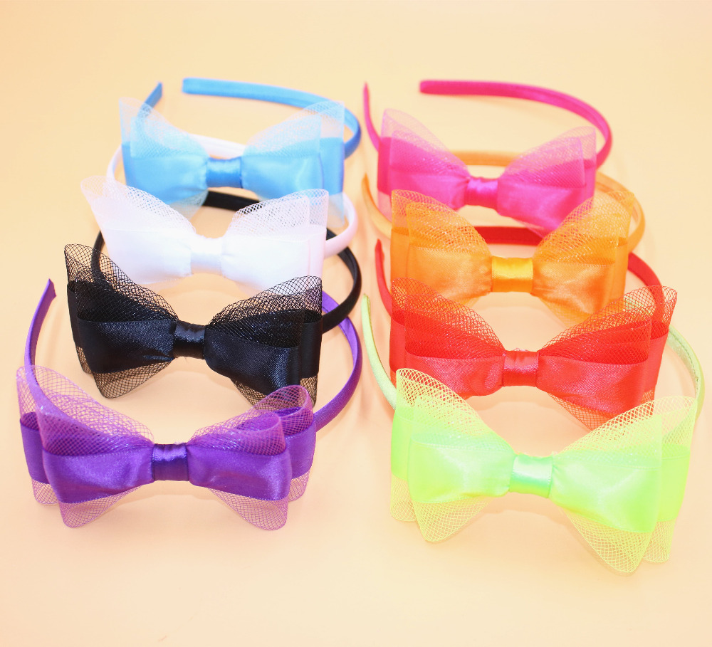 1pc Cute Grosgrain Ribbon Bowknot Infant Baby Toddler Girls Hairbands Kids Hair Bows Headbands Headwear Hair Accessories(China (Mainland))