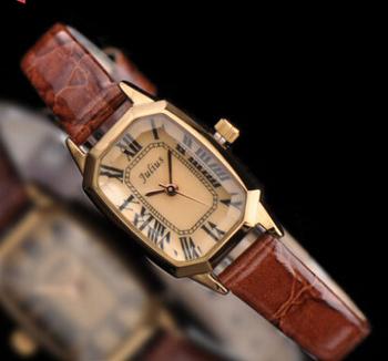 Lady Woman Julius Wrist Watch Quartz Hours Best Fashion Dress Korea Bracelet Girl Gift Leather Clock Shell Retro Rome JA478