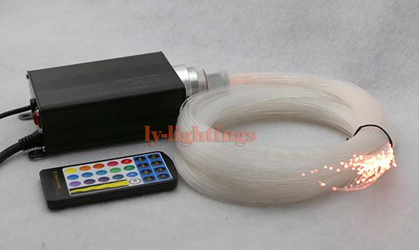 DIY optic fiber light kit led light +150pcsx0.75mmx5m optical fibre color change star ceiling light 16W RGB IR remote<br><br>Aliexpress
