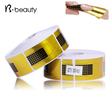 Golden Nail Form,500pcs/roll Nail Art Tip Guide Extension,Acrylic UV Gel Nail Sticker Manicure Forms Holder ,Nail Tools(China (Mainland))