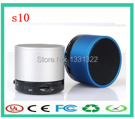 Best buy S10 wireless mp3 support tf card active mini usb mini bluetooth portable speaker(China (Mainland))