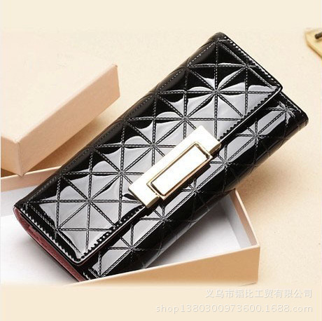 2015 Fashion Limited Zipper Candy Color PU Clutch Wallets Women's / Ladies Long Leather Check Purse Bag - Byland Accessories store