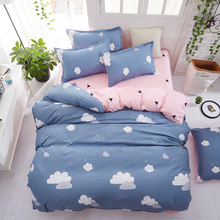Simple style bedding set single/Double bed-Christmas gift flat bed sheet Bedding Set twin full queen king size(China)