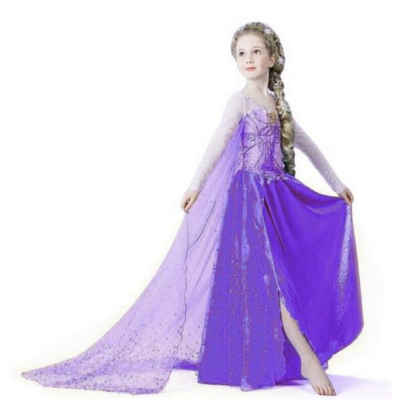 Elsa Girls Dress 2015 Summer Kids Anna Dresses For Girls ...