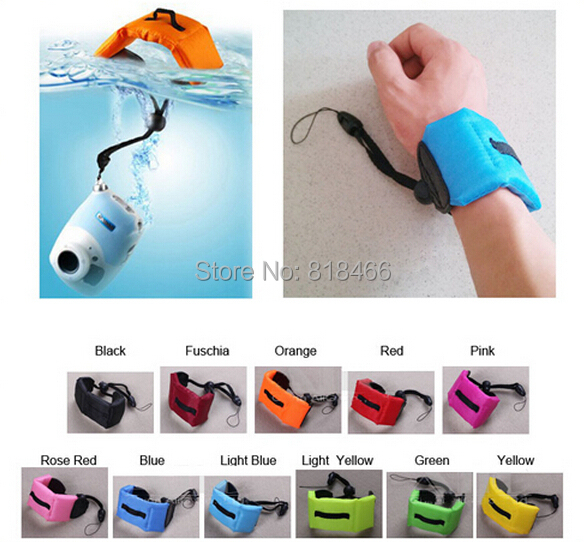 100pcs/lot Floating Foam Hand Strap Camera submersible Floating bobber hand wrist strap for Gopro HERO 4 3 3+ sj4000<br><br>Aliexpress