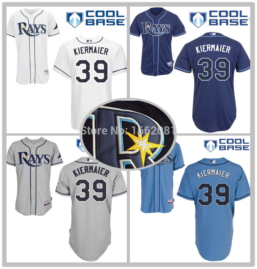 2015 Hot Sale #39 Kevin Kiermaier Tampa Bay Rays Jersey Men's Embroidery Blue Authentic cheap Cool Base Baseball Jerseys(China (Mainland))