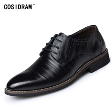 New 2016 Oxford Shoes For Men Dress Shoes Genuine Leather Office Shoes Men Flats Zapatos Hombre Black Mens Oxfords BRM-276(China (Mainland))