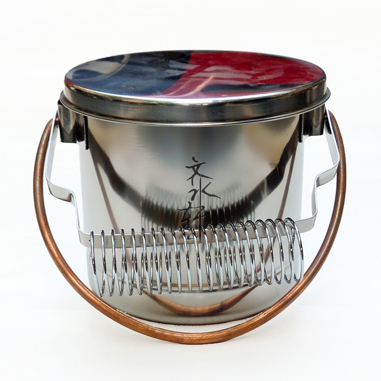 Stainless Steel Brush Washer With Handle Large Capacity Wash Pen Barrel Bucket With Filter Screen Convinent Artist Painting Tool(China (Mainland))