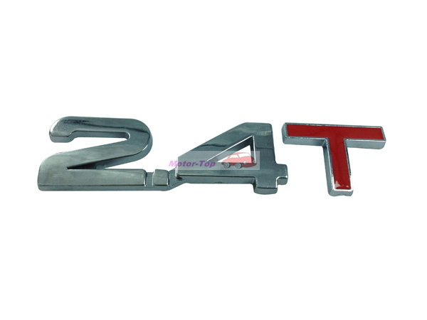 2.4T 2.4 T Connection Turbo Engine Rear Trunk Emblem Badge Decal Sticker - topsedan store