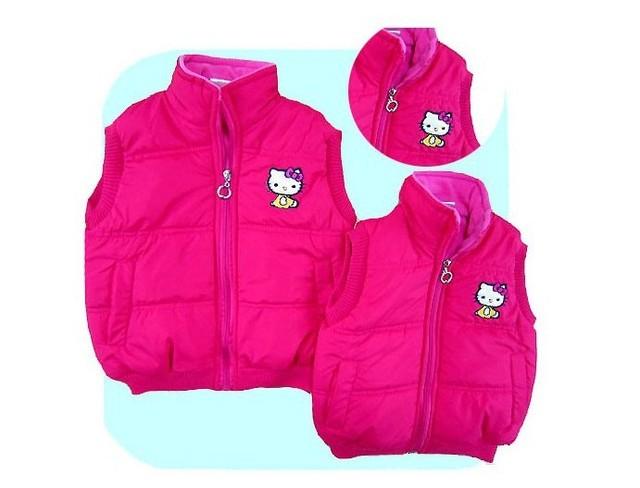 children's vest baby hello kitty vest chilren's clothing fashion girl's vest baby coats 5 pcs/lot