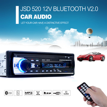 Registered Car Radio 12V Bluetooth V2.0 Car Audio Stereo In-dash 1 Din FM Aux Input Receiver SD USB MP3 MMC WMA Car Radio Player(China (Mainland))