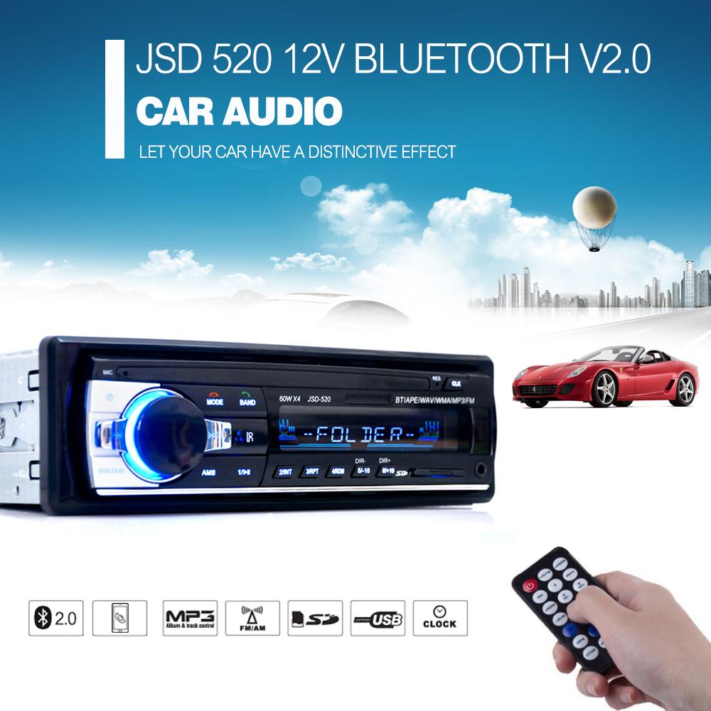 Registered Car Radio 12V Bluetooth V2.0 Car Audio Stereo In-dash 1 Din FM Aux Input Receiver SD USB MP3 MMC WMA Car Radio Player(China (Mainland))