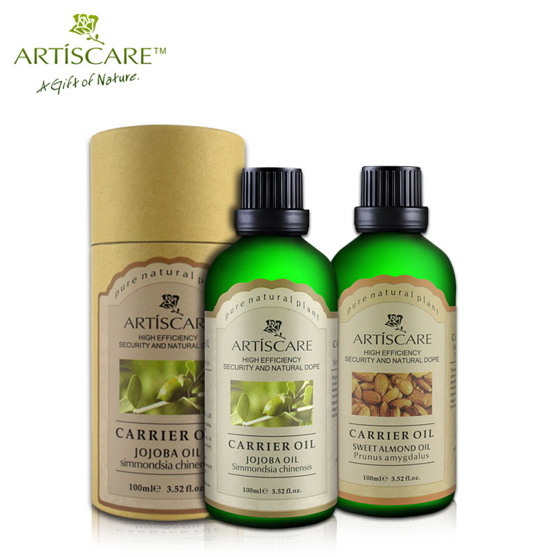 ARTISCARE Jojoba base oil + Sweet Almond base oil Skin Care Moisturizing fade wrinkles Anti Chapping Hair care SPA massage oil
