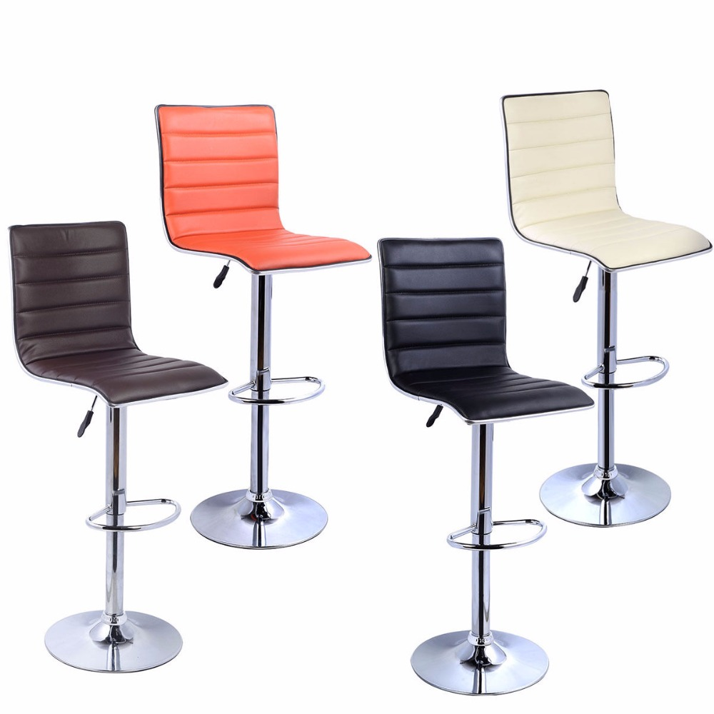Factory bar stool pu leather barstools chairs adjustable for Latest sitting room chair