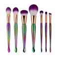 7Pcs rainbow Mermaid Makeup Brushes Set for Foundation Eyebrow Eyeliner Blush Concealer blending Brushes Cosmetic Beauty