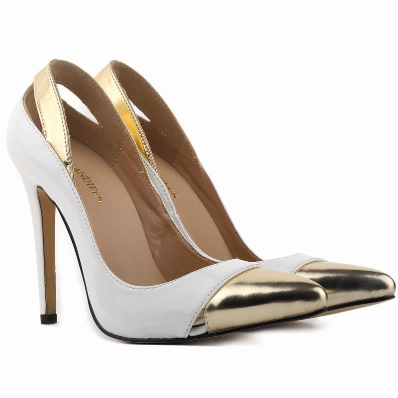 2016 New Fashion Pumps Nightclub Pointed Female Shoes Metal Women High Heels Sexy Female Sandals 11cm Pumps Big Size Hot Sale<br><br>Aliexpress