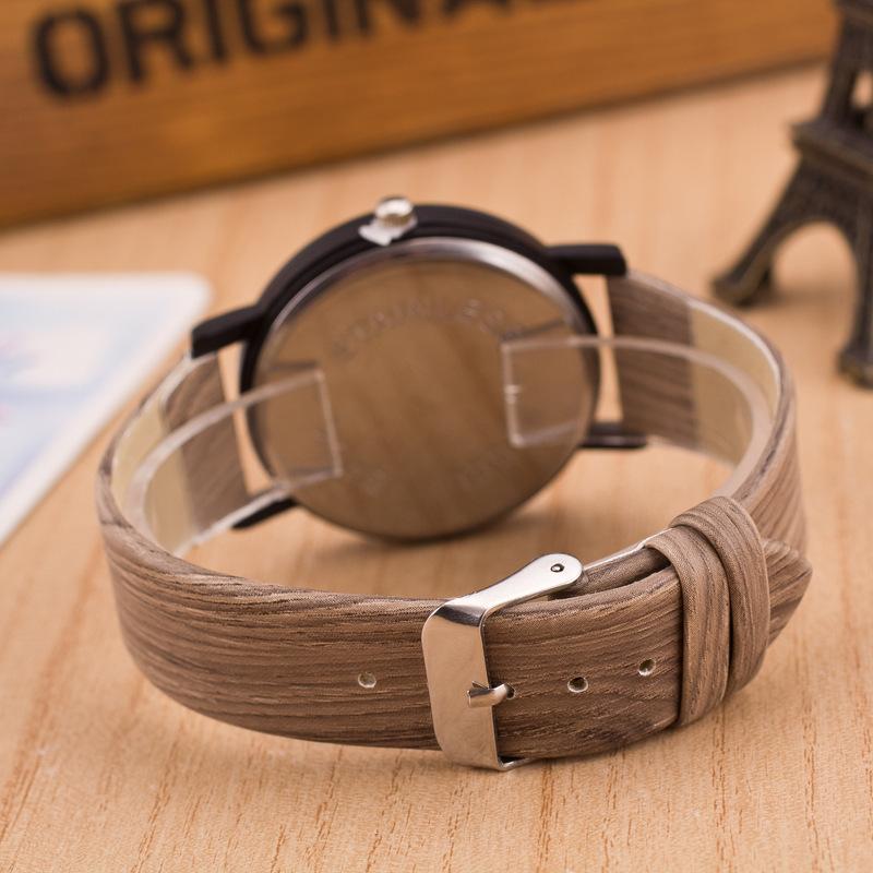 SB00144 New 2015 Wood Fashion Europe Bronze Denim Vintage Quartz Watch Women Men Dress Watches Free