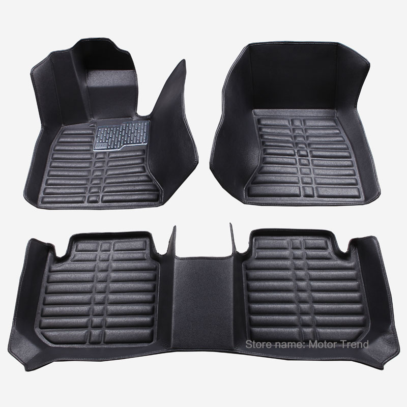 Car floor mats for BMW 1 3 5 7 Series GT F10 F11 F15 F20 F25 F30 F34 E60 E70 E90 X1 X3 X4 X5 X6 Audi Q3 Q5 Q7 car-styling liners(China (Mainland))