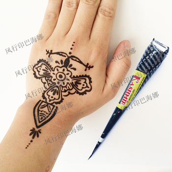 Authentic original Kashmir imports Henna natural jet black plant Henna tattoo paste into the dark Deluxe Edition of India