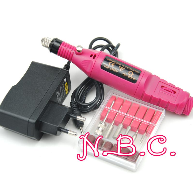 1Set Professional Electric Nail Kit Nail Tips Manicure Machine Electric Nail art Pen Pedicure Bits Nail Art Tools Kit