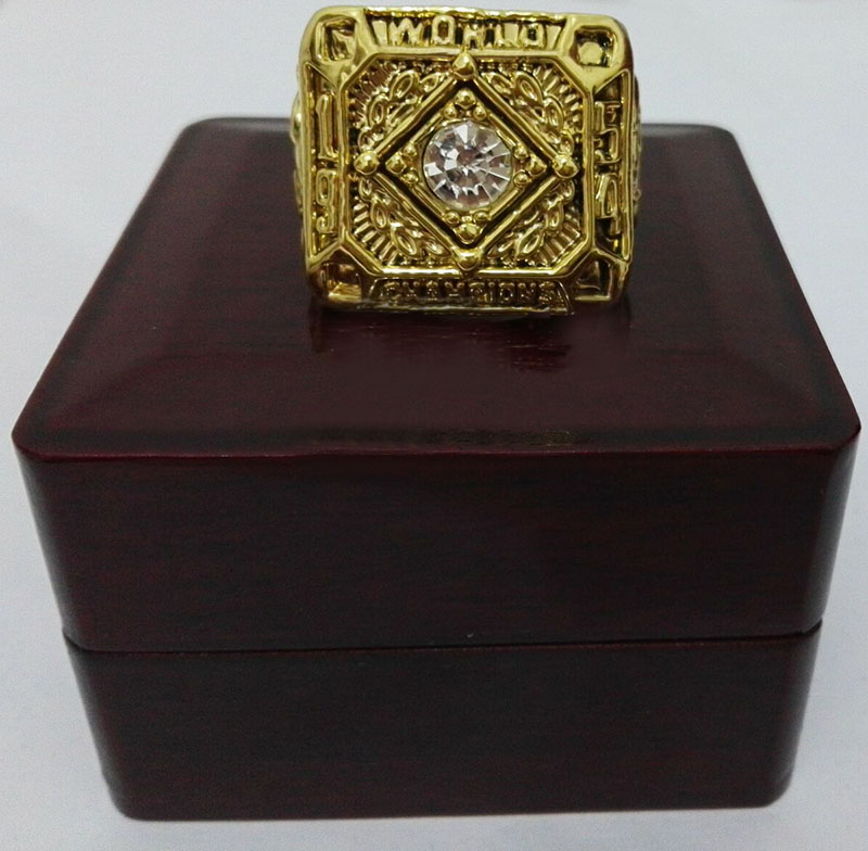 1954 San Francisco Giants Major League Baseball Zinc Alloy gold plated Custom Sports Replica Championship Ring With Wooden Boxes(China (Mainland))