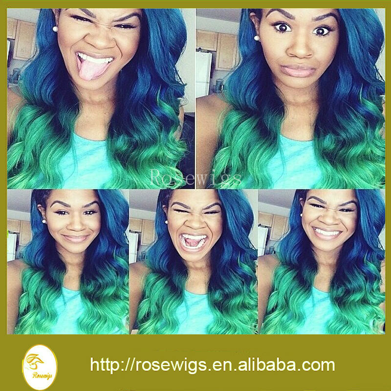 Green And Blue Hair Weave