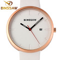 BINSSAW Luxury brand Ladies Fashion Quartz Watch Women Leather Casual Dress Women s Watch Rose Gold