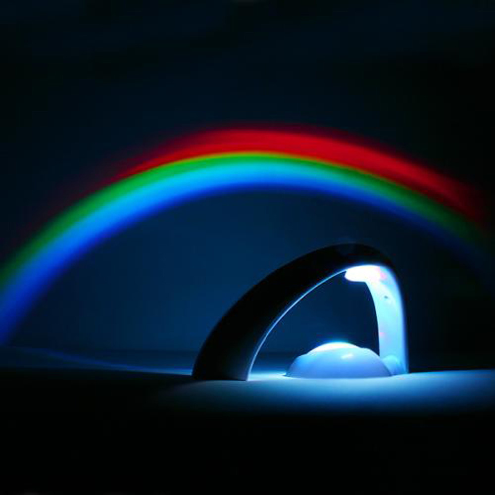 Led Lights Rainbow: Rainbow LED Projector Lamp Night Light Room Decoration-in