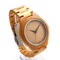 Mens Watch All New Design Full Bamboo Wristwatches with Bamboo Band Japan Move 2035 Quartz Wood