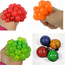 Cute Anti Stress Face Reliever Grape Ball Autism Mood Squeeze Relief Healthy Toy FREE SHIPPING(China (Mainland))