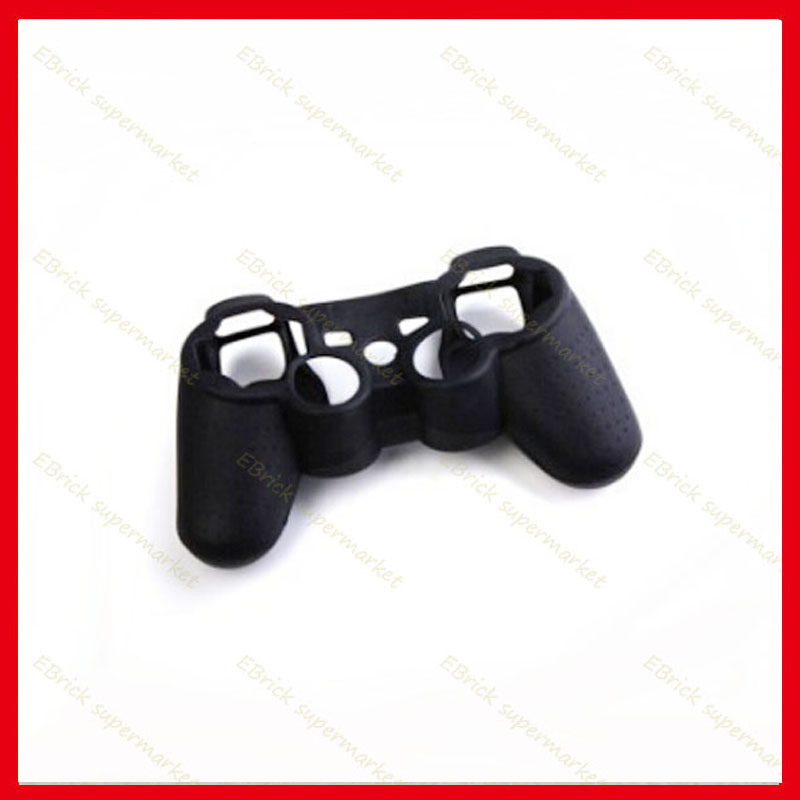 10pcs Black Silicone Case Protective Skin Case Cover For ps3 ps2 Controller(China (Mainland))