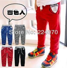 spring and autumn Children Baby boy black color pants kid's striped colors children casual pants boys sports pants free shipping(China (Mainland))