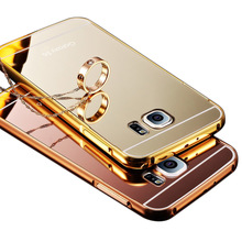 Buy Samsung Galaxy S5 S6 S7 Edge A5 A3 J5 2016 Case Note 5 Cover Luxury Aluminum Frame+Mirror Acrylic PC Back Cover Phone Case for $2.17 in AliExpress store