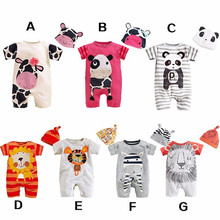 2016 Baby Boy Rompers Summer Baby Gril Brand Clothing Sets Roupas Infantis Newborn Bebes Clothes Short Sleeve Baby Boy Clothes