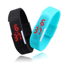 Sport Watches Men Watch Fashion Simple Colorfull Silicone Outdoor Sports Watch 12 Colors
