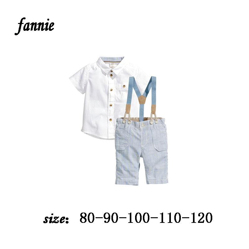 Children baby boys clothing sets kids clothes summer brand clothing shirt boy clothes gentleman suit male and shorts bow ties(China (Mainland))