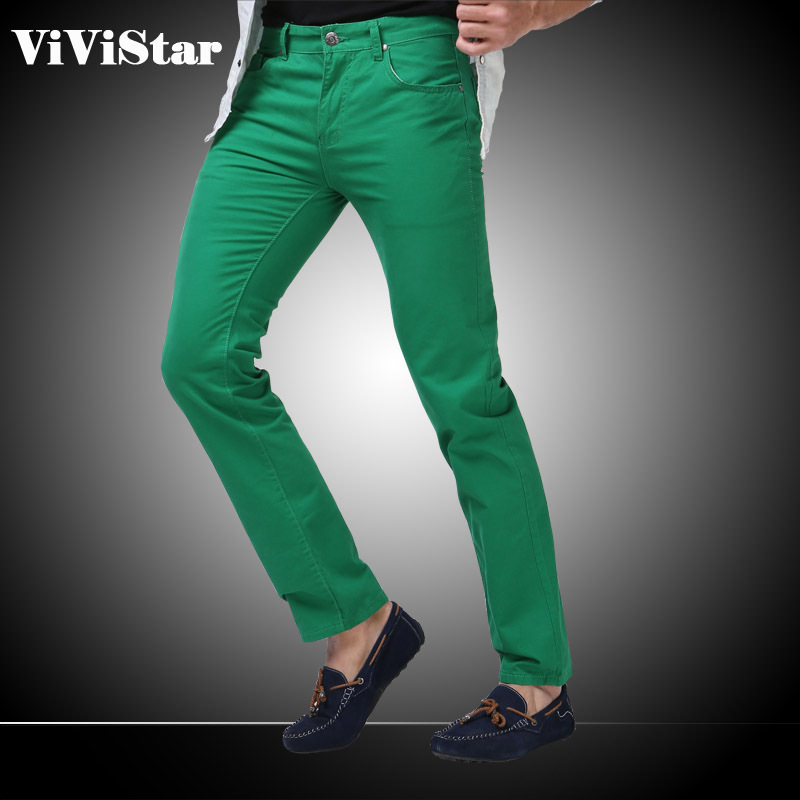 Men Jeans Solid Candy Color 2015 New Spring Summer Autumn Fashion Casual Brand Calca Jeans  F0640(China (Mainland))