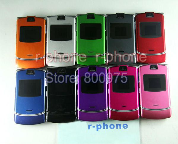 Refurbished Motorola RAZR V3 Mobile Phone 2G GSM Unlocked Russian Arabic English Keyboard(China (Mainland))