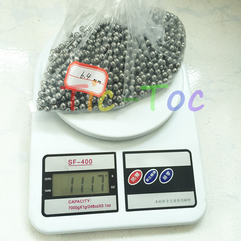 Free shipping 20pcs lot 6 4mm Professional Slingshot Ammo Shooting Steel Balls Outdoor For Hunting WM021