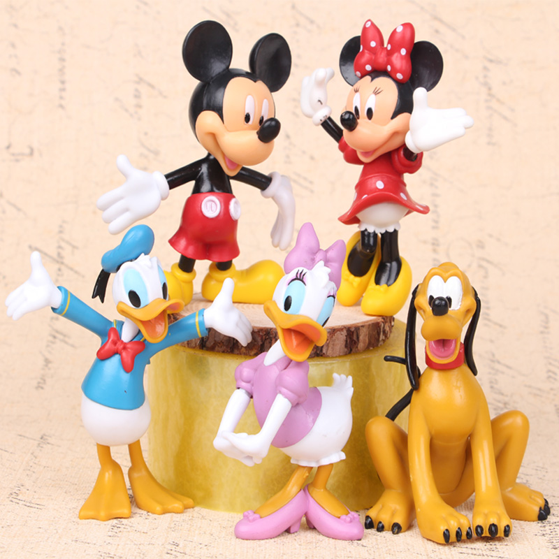 NEW hot 10cm 5pcs/set Mickey Mouse Clubhouse Minnie Donald Duck collectors action figure toys Christmas gift doll(China (Mainland))