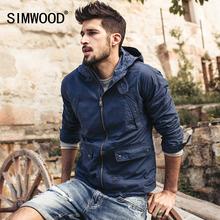 SIMWOOD brand 2017 new Spring cotton jacket men fashion causal coats zipper WJ1650(China (Mainland))