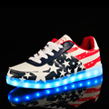 2016 Lovers Light Up Shoes For Men And Women Unisex Adult LED Flat Footwear Europe Style