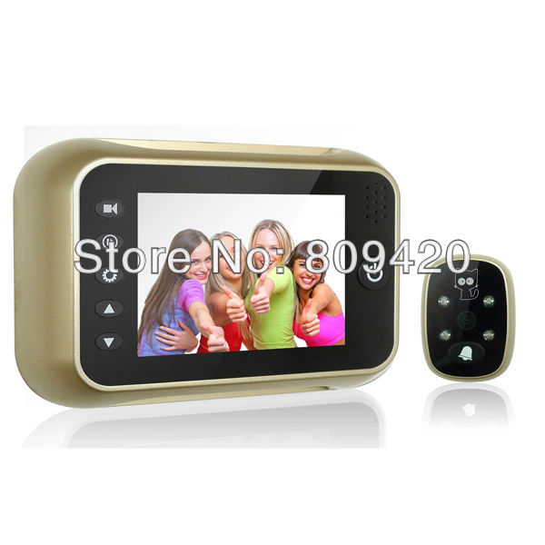 3.5 inch Screen Digital Door Camera Peephole Viewer Night vision 120 degree wide angle Video Photo Recording 3x digital zoom - JST-Shop store