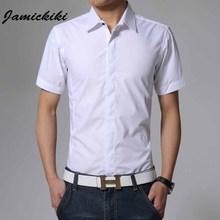 2016 Latest Shirt Designs for Men 100% Cotton Slim Fit Turn-down Collar Shirt Men's Short Sleeve Business Dress Shirt(China (Mainland))
