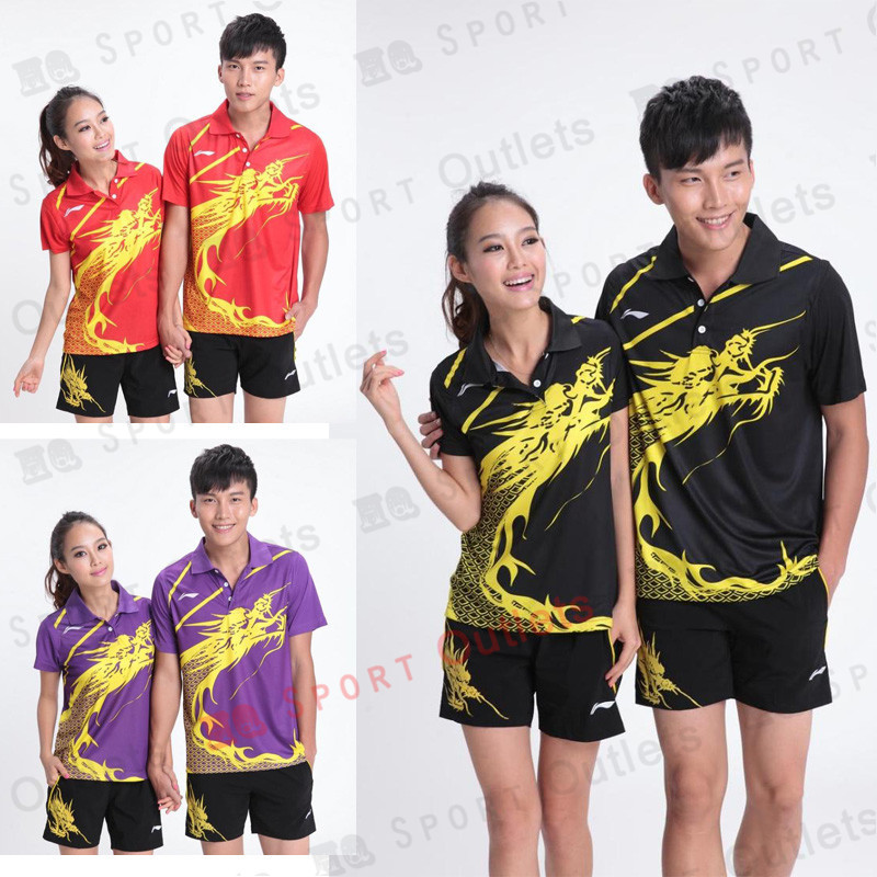 Li-Ning Men / Woman table tennis Polo Shirts Breathable Quick Dry table tennis Sportswear(China (Mainland))