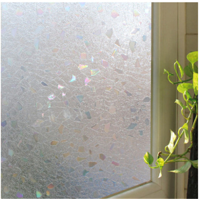 45cmX200cm 3D Stickers Electrostatic Frosted Privacy Glass ...