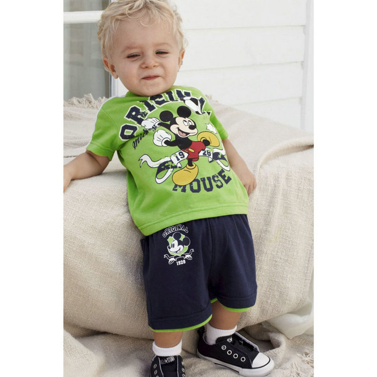 2014 new summer boys two piece suit lovely animal pattern T-shirt + short pants 2 sets Outfits & Sets TZ-017